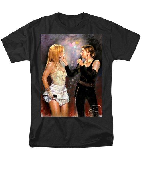 Madonna And Britney Spears  Men's T-Shirt  (Regular Fit) by Viola El