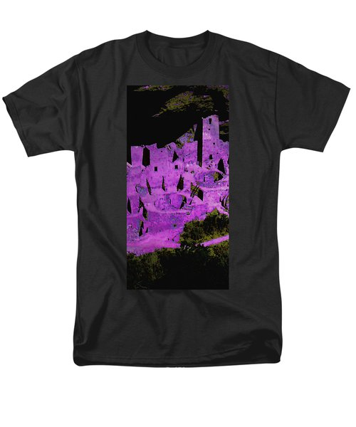 Magenta Dwelling Men's T-Shirt  (Regular Fit) by David Hansen