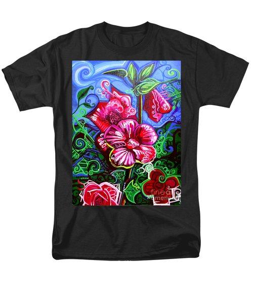 Magenta Fleur Symphonic Zoo I Men's T-Shirt  (Regular Fit)