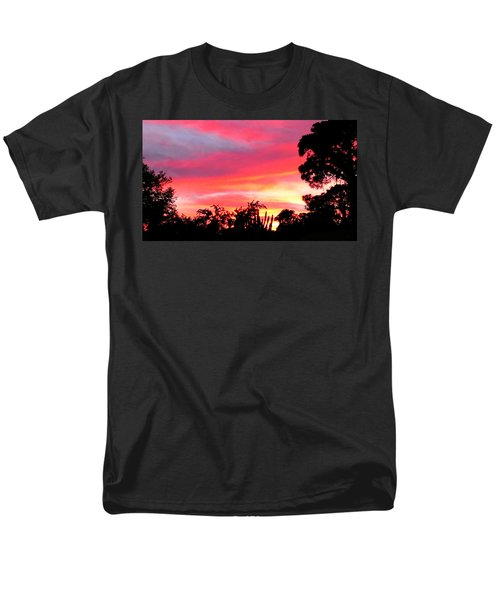 Men's T-Shirt  (Regular Fit) featuring the photograph Magenta Sunset by DigiArt Diaries by Vicky B Fuller