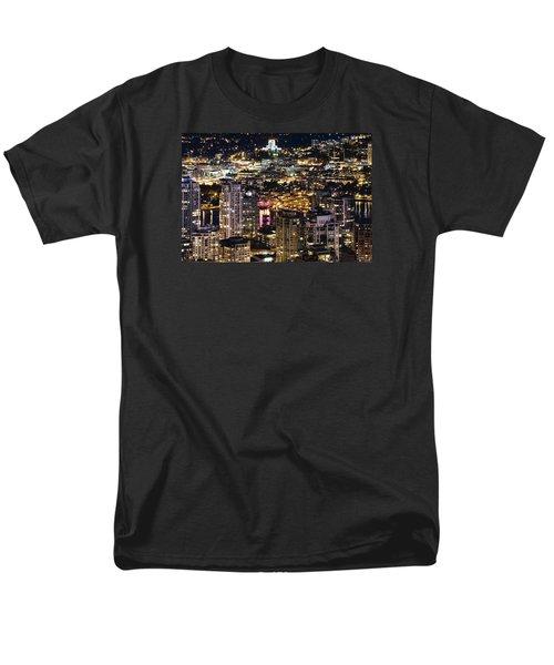 Men's T-Shirt  (Regular Fit) featuring the photograph Magical Yaletown Harbor Mdxlix by Amyn Nasser