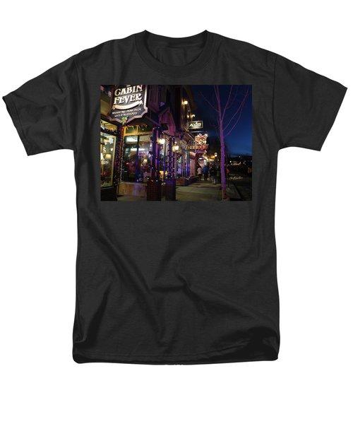 Main Street Breckenridge Colorado Men's T-Shirt  (Regular Fit) by Fiona Kennard