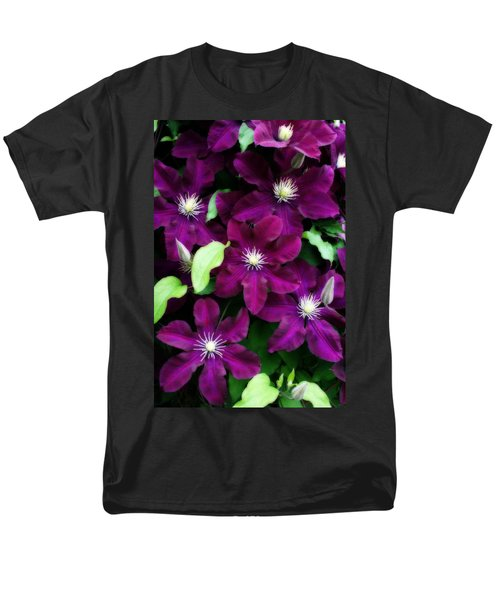 Majestic Amethyst Colored Clematis Men's T-Shirt  (Regular Fit) by Kay Novy