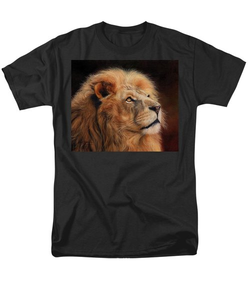 Majestic Lion Men's T-Shirt  (Regular Fit) by David Stribbling