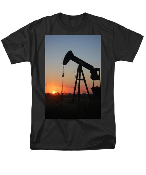 Making Tea At Sunset Men's T-Shirt  (Regular Fit) by Leticia Latocki