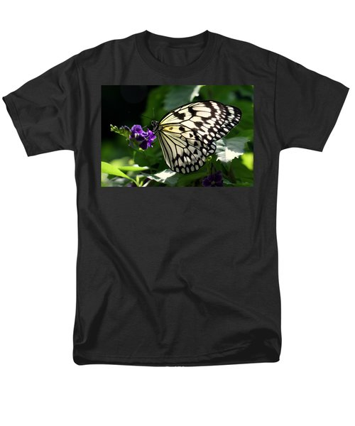 Men's T-Shirt  (Regular Fit) featuring the photograph Malabar Tree Nymph  by Suzanne Stout