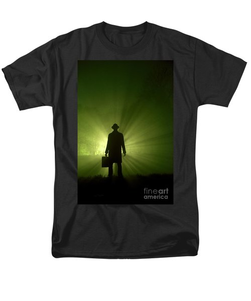 Men's T-Shirt  (Regular Fit) featuring the photograph Man In Light Beams by Lee Avison