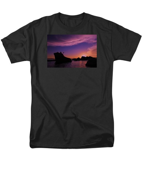 Men's T-Shirt  (Regular Fit) featuring the photograph Man In Sun At Bonsai Rock by Sean Sarsfield