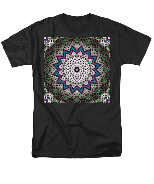 Men's T-Shirt  (Regular Fit) featuring the digital art Mandala 37 by Terry Reynoldson