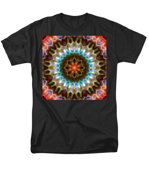 Men's T-Shirt  (Regular Fit) featuring the digital art Mandala 79 by Terry Reynoldson