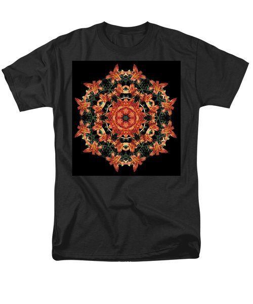 Men's T-Shirt  (Regular Fit) featuring the photograph Mandala Daylily by Nancy Griswold