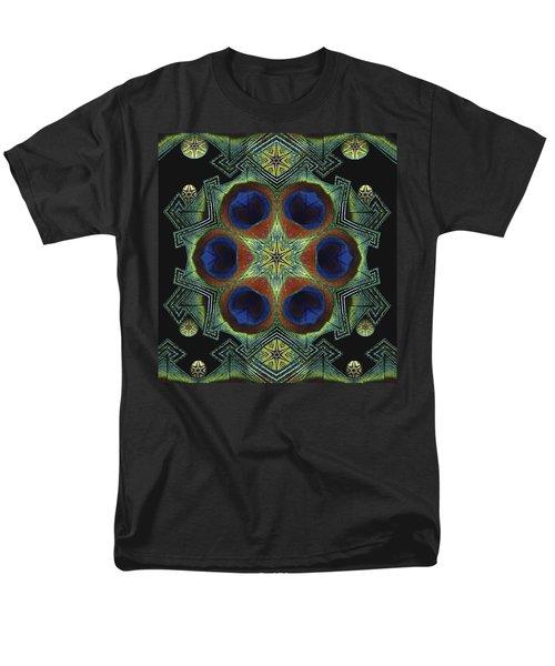 Men's T-Shirt  (Regular Fit) featuring the digital art Mandala Peacock  by Nancy Griswold