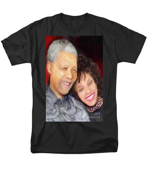 Men's T-Shirt  (Regular Fit) featuring the painting Mandela And Whitney by Vannetta Ferguson