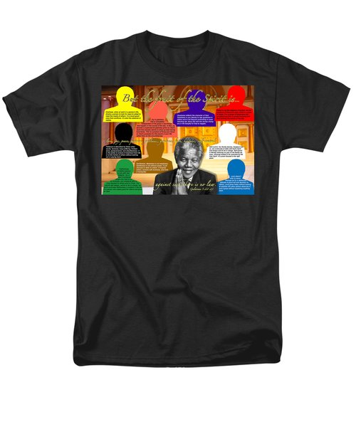 Mandela's Rainbow With Scripture Men's T-Shirt  (Regular Fit) by Terry Wallace