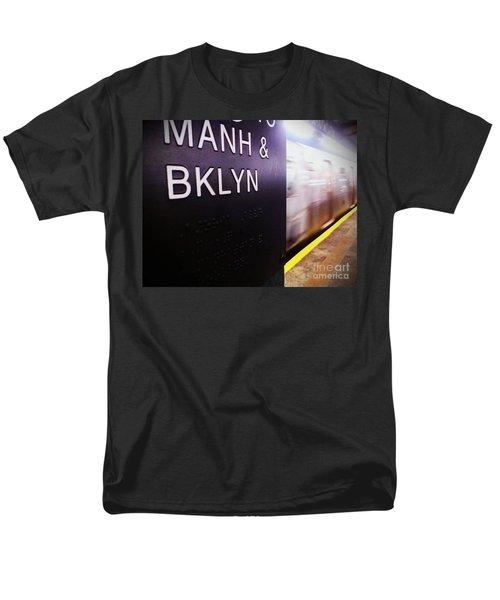 Men's T-Shirt  (Regular Fit) featuring the photograph Manhattan And Brooklyn by James Aiken