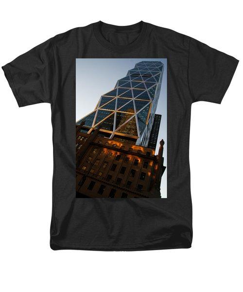 Manhattan Blues And Oranges Men's T-Shirt  (Regular Fit) by Georgia Mizuleva
