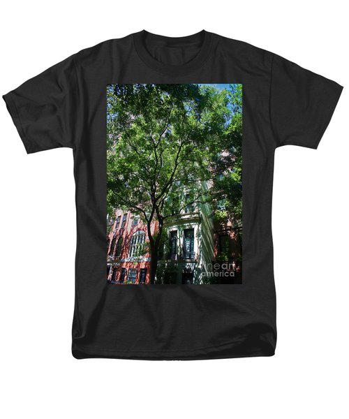 Men's T-Shirt  (Regular Fit) featuring the photograph Manhattan Upper East Side Late Summer by Andy Prendy