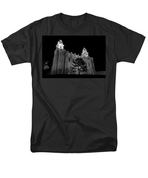 Manti Temple Black And White Men's T-Shirt  (Regular Fit) by David Andersen