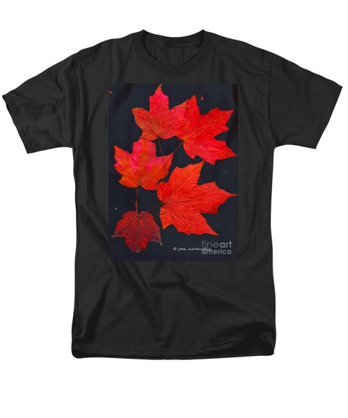 Maple Leaf Tag Men's T-Shirt  (Regular Fit) by Joan Hartenstein