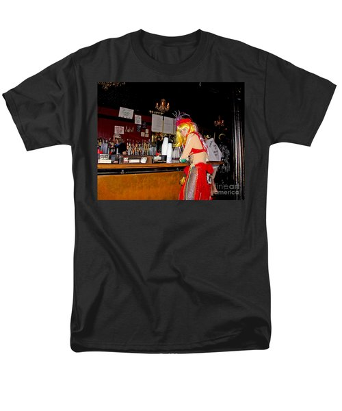 Men's T-Shirt  (Regular Fit) featuring the photograph Mardi Gras Bar French Quarter by Luana K Perez