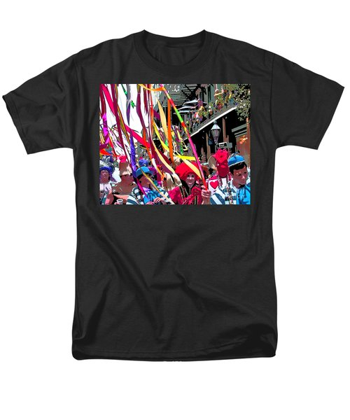 Mardi Gras Marching Parade Men's T-Shirt  (Regular Fit) by Luana K Perez