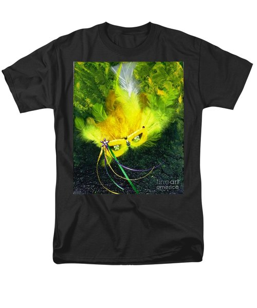 Men's T-Shirt  (Regular Fit) featuring the painting Mardi Gras On Green by Alys Caviness-Gober