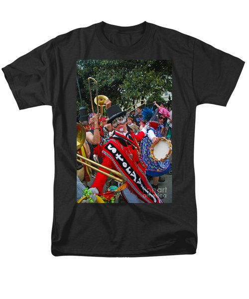 Men's T-Shirt  (Regular Fit) featuring the photograph Mardi Gras Storyville Marching Group by Luana K Perez