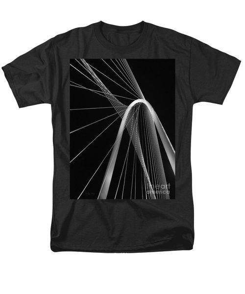 Margaret Hunt Hill Bridge Dallas Texas Men's T-Shirt  (Regular Fit) by Robert ONeil