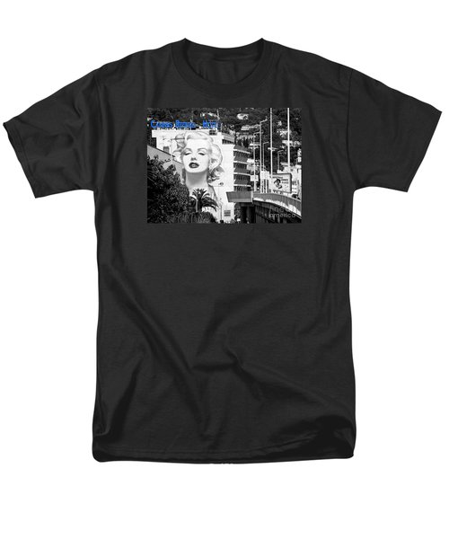 Men's T-Shirt  (Regular Fit) featuring the photograph Marilyn In Cannes by Jennie Breeze