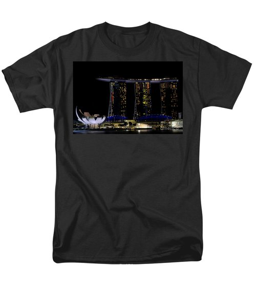 Marina Bay Sands Integrated Resort Hotel And Casino And Artscience Museum Singapore Marina Bay Men's T-Shirt  (Regular Fit) by Imran Ahmed