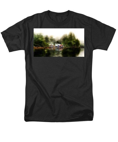 Marina Retreat Men's T-Shirt  (Regular Fit) by Debra Baldwin