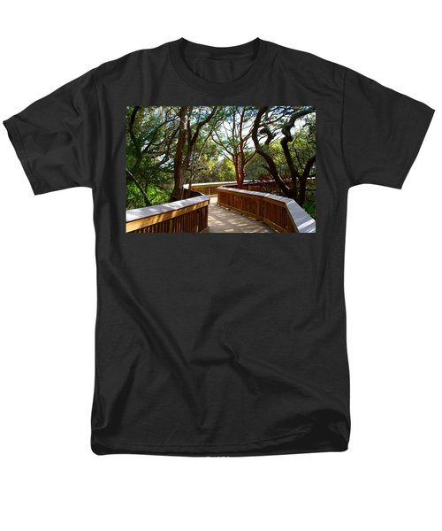 Maritime Forest Boardwalk Men's T-Shirt  (Regular Fit) by Kathryn Meyer