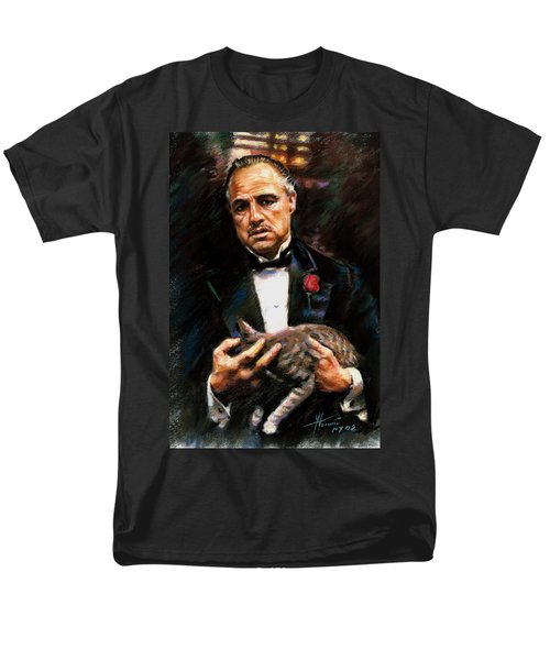 Men's T-Shirt  (Regular Fit) featuring the drawing Marlon Brando The Godfather by Viola El