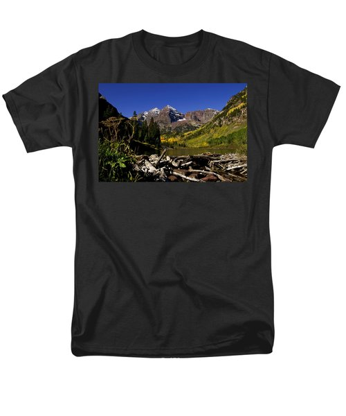 Men's T-Shirt  (Regular Fit) featuring the photograph Maroon Bells by Jeremy Rhoades