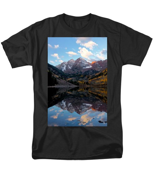 Men's T-Shirt  (Regular Fit) featuring the photograph Maroon Bells by Ronda Kimbrow
