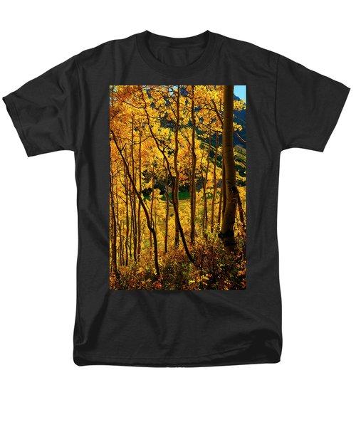 Maroon Lake Gold Men's T-Shirt  (Regular Fit) by Jeremy Rhoades