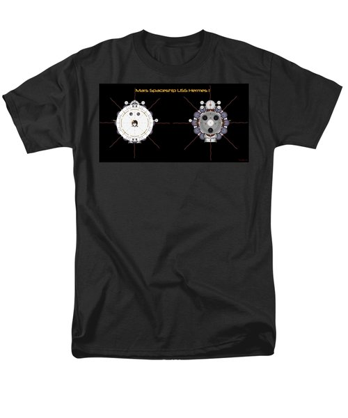 Mars Spaceship Hermes1 Front And Rear Men's T-Shirt  (Regular Fit) by David Robinson