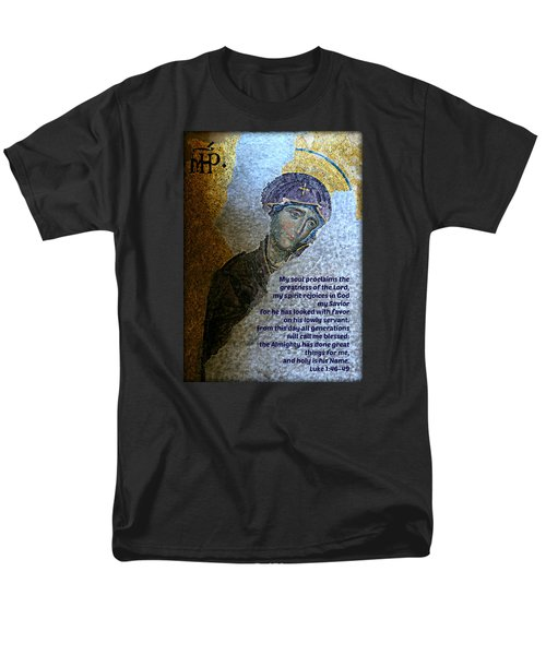 Mary's Magnificat Men's T-Shirt  (Regular Fit) by Stephen Stookey