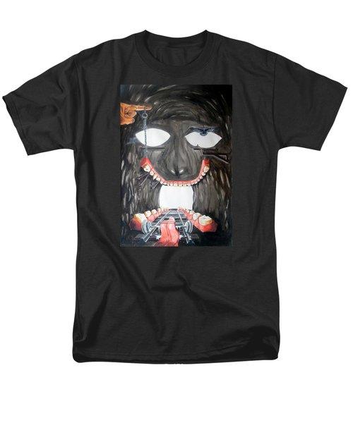 Men's T-Shirt  (Regular Fit) featuring the painting Masquera Carcaza  by Lazaro Hurtado