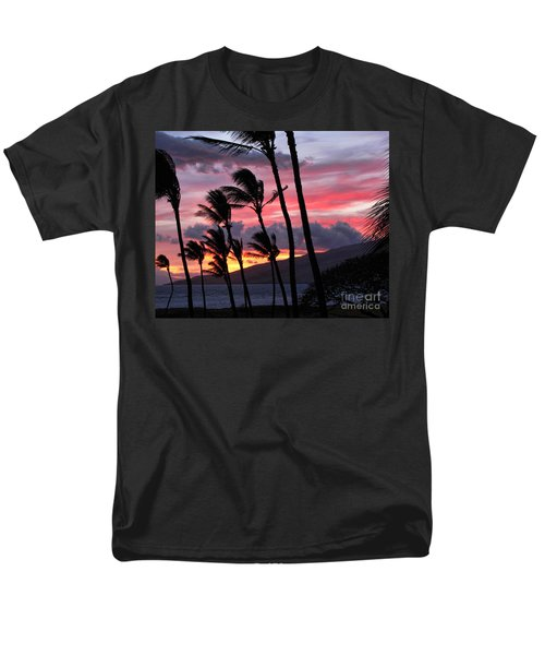 Men's T-Shirt  (Regular Fit) featuring the photograph Maui Sunset by Peggy Hughes