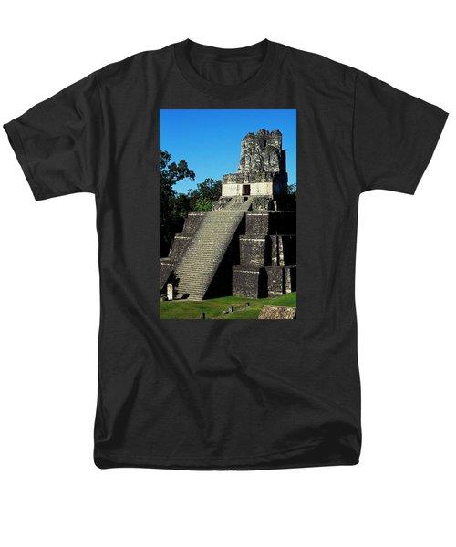Mayan Ruins - Tikal Guatemala Men's T-Shirt  (Regular Fit) by Juergen Weiss