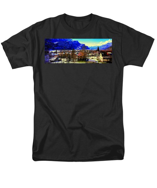 Meiringen Switzerland Alpine Village Men's T-Shirt  (Regular Fit) by Tom Jelen
