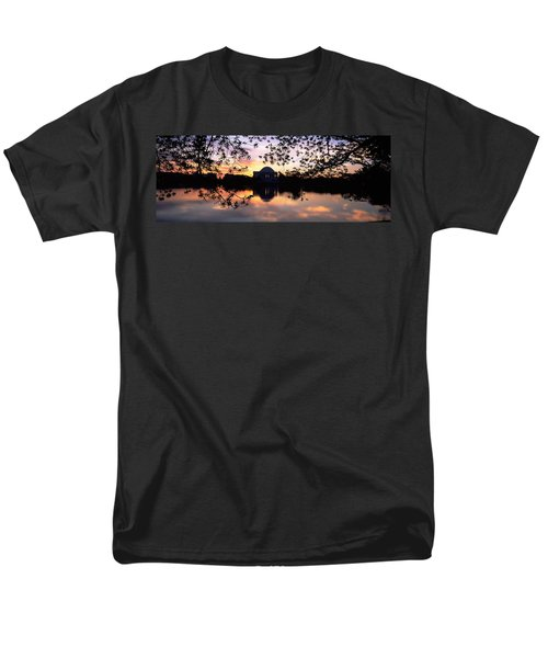Memorial At The Waterfront, Jefferson Men's T-Shirt  (Regular Fit) by Panoramic Images