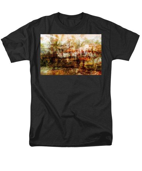 Men's T-Shirt  (Regular Fit) featuring the mixed media Memories #1 by Sandy MacGowan