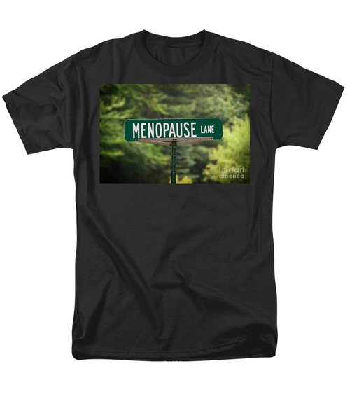 Menopause Lane Sign Men's T-Shirt  (Regular Fit) by Sue Smith