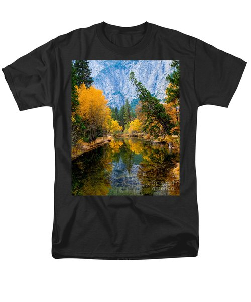 Merced River And Leaning Pine Men's T-Shirt  (Regular Fit) by Terry Garvin