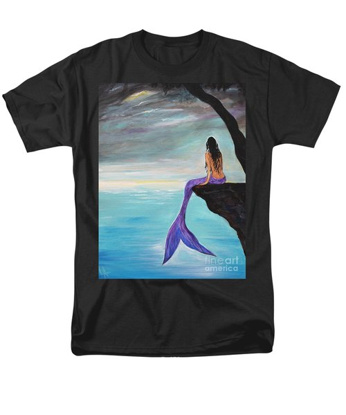 Mermaid Oasis Men's T-Shirt  (Regular Fit) by Leslie Allen