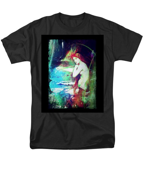 Mermaid Of The Tides Men's T-Shirt  (Regular Fit) by Absinthe Art By Michelle LeAnn Scott