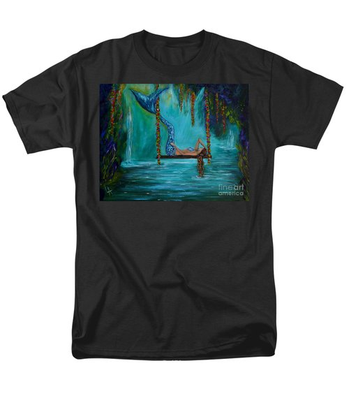 Mermaids Tranquility Men's T-Shirt  (Regular Fit) by Leslie Allen