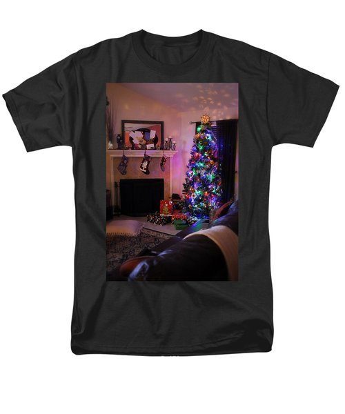 Men's T-Shirt  (Regular Fit) featuring the photograph Merry Christmas From My Home To Yours by Trish Mistric